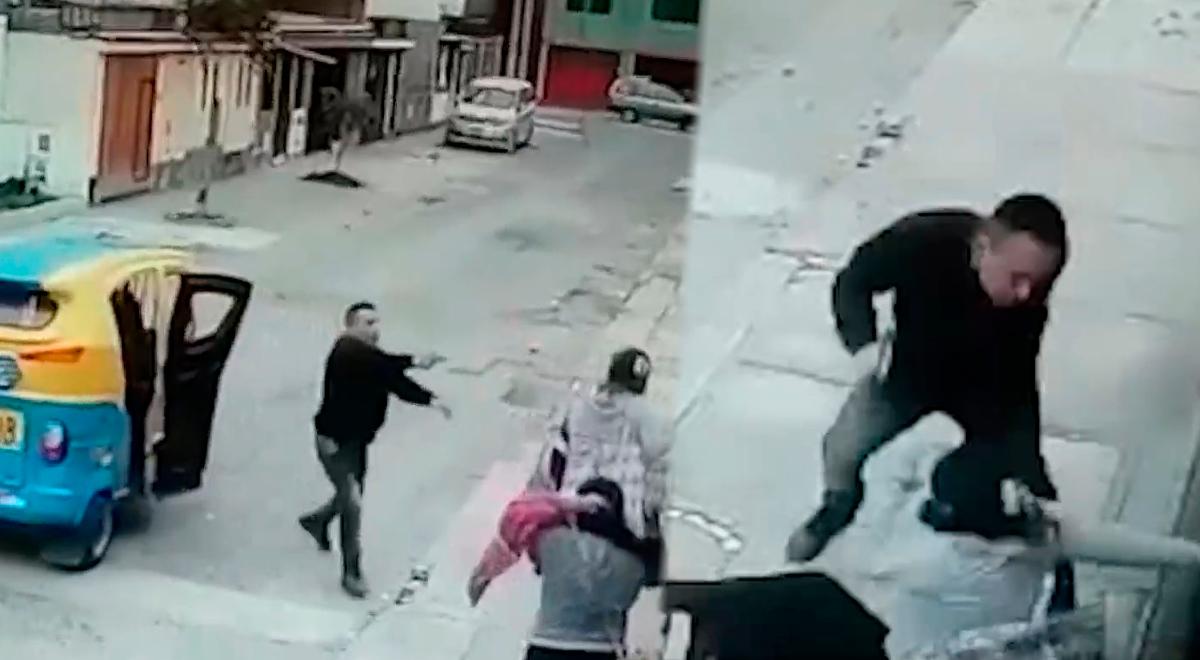 SJM: Delincuente golpea salvajemente a mujer por resistirse a robo [VIDEO]