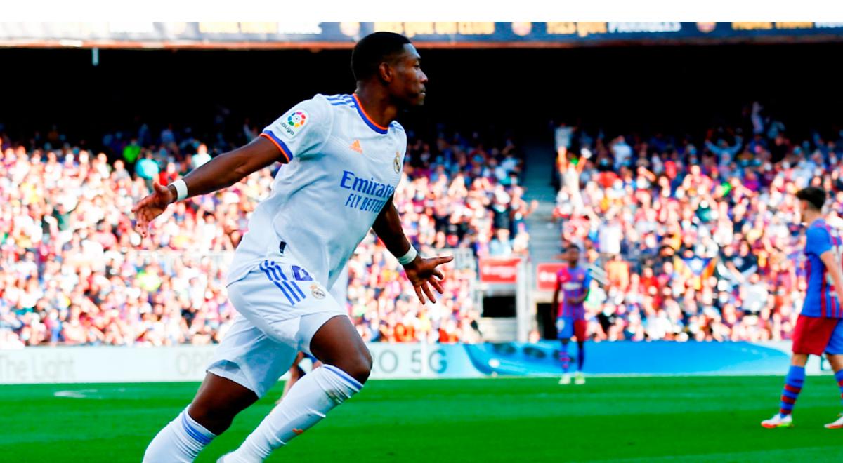 David Alaba le rompe el arco a Ter Stegen y Real Madrid gana 1-0 al Barcelona en el Camp Nou
